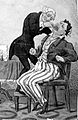 Satire; dentist and patient. Wellcome L0000330.jpg