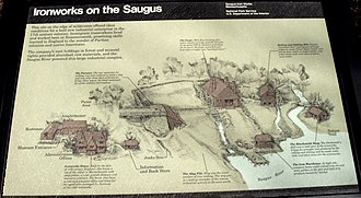 Saugus Iron Works National Historic Site - Image: Saugus Iron Works general plan