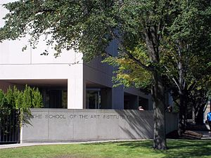 School of the Art Institute of Chicago - The school's Grant Park, Columbus Avenue, building, attached to the museum, houses a premier gallery showcase.