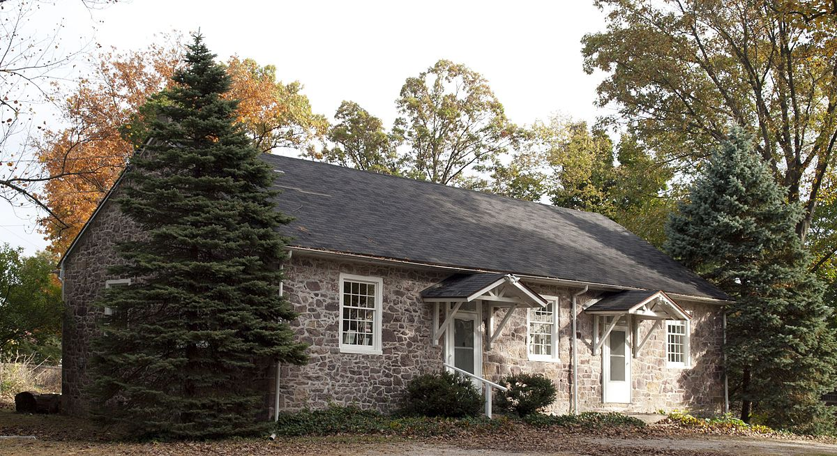 Schuylkill Friends Meeting (Quaker meetinghouse in Phoenixville, PA), as seen from the front