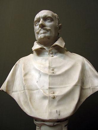 Alessandro Peretti di Montalto - Bust of Alessandro Peretti di Montalto, sculpture by Gianlorenzo Bernini in Kunsthalle Hamburg