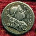 Scuola romana sotto leone X, medaglia di leone X e la pace.JPG