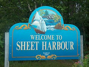 Sheet Harbour, Nova Scotia - Sheet Harbour Welcome Sign