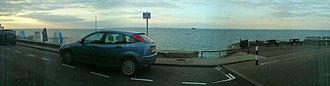 Seaview, Isle of Wight - Panorama of the Solent as seen from Seaview