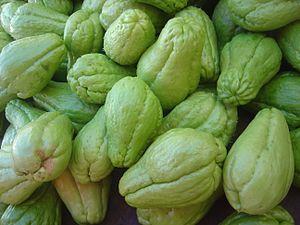 Früchte der Chayote