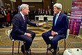 Secretary Kerry Speaks With Bloomberg Anchor David Westin Before an Interview on the Sidelines of the Bloomberg New Energy Finance Summit in New York City (26164737332).jpg