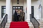 Secretary Pompeo Greeted by CENTCOM General McKenzie (48085065421).jpg