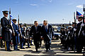 Secretary of Defense Chuck Hagel walks with Israeli Minister of Defense, Ehud Barak, through an honor cordon at the Pentagon March 5, 2013. (DoD photo by Erin A. Kirk-Cuomo)(Released).jpg