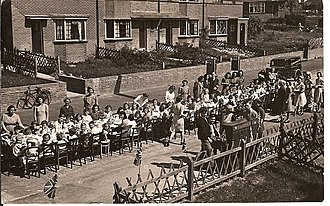 Party - A September 1945 street party in Selborne Road, Kent, celebrating victory in the Second World War