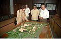 Selja Inspecting Science City Model - Science City Site Office - Calcutta 1994-02-17 178.JPG