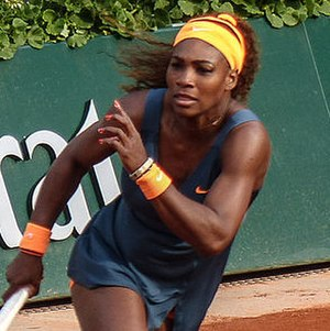 Clay court - Serena Williams, pictured here at the 2013 French Open, has won the French Open in 2002, 2013 and 2015.