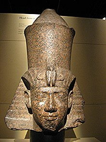 Sphinx head of Shabaka, on display at the Egyptian Museum, Cairo.