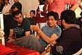 Shahrukh Khan, Adnan Safee and Bappaditya Roy. On the sets of Hyundai i12.jpg