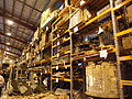 Shelves of military equipment at the Treloar Technology Centre in September 2012.JPG