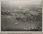 Ships surrounding Sydney Harbour and Sydney Harbour Bridge taken from Neutral Bay, 19 March 1932 (6173531391).jpg