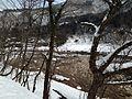 Shogawa River from Gassho-zukuri Minkaen Garden 20150121-2.JPG