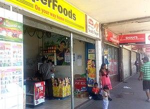 Lautoka: Shop in Lautoka, Viti Levu, Fiji - August 2016