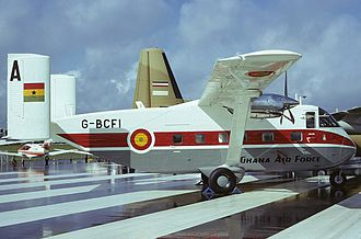Ghana Air Force - A former Short SC.7 Skyvan from the GHF