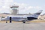 Shortstop Jet Charter (VH-LMP) BAe 125-1000B on the tarmac at Wagga Wagga Airport.jpg
