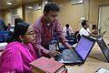 Shrabanti Sarkar and Arindam Maitra - Bengali Wikipedia Editathon - Bengali Wikipedia 10th Anniversary Celebration - Jadavpur University - Kolkata 2015-01-10 3255.JPG