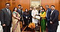 Shri George Baker, MP along with a delegation of Rashtriya Isai Mahasangh, calls on the Prime Minister, Shri Narendra Modi to extend Christmas greetings, in New Delhi on December 23, 2016.jpg