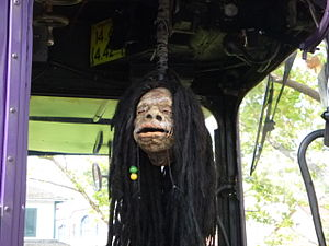Shrunken head - Fake shrunken head in the Knight Bus, The Wizarding World of Harry Potter (Universal Orlando Resort).