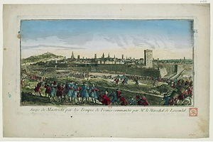 Siege of Maastricht (1748) - View of the Siege of Maastricht in 1748