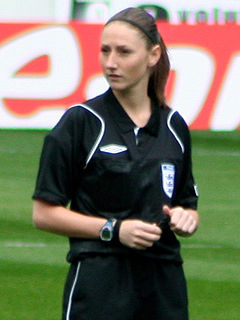 Sian Massey-Ellis Soccer official