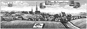Siegenburg from a c. 1700 woodcut