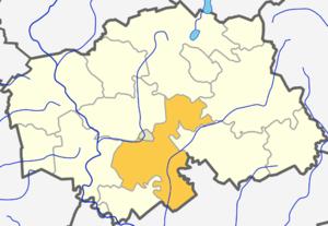 Šilalė - Image: Silales kaimiskoji seniunija (Silales rajono zemelapis)