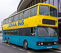 Simmonds bus (C157 HBA) 1986 Hong Kong tri-axle (KMB 3BL64, DH 5054), 2012 Slough & Windsor running day (2).jpg