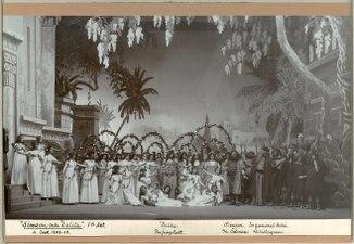 Simson och Delila, Kungliga teatern 1903. Föreställningsbild - SMV - H14 021.tif