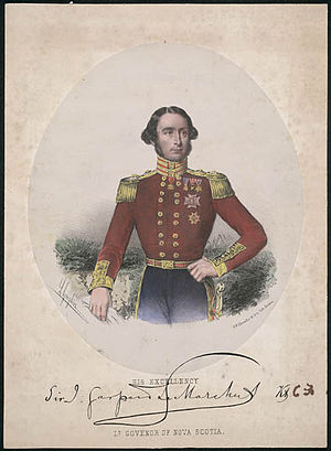 John Le Marchant (British Army officer, born 1803) - Sir Gaspard Le Marchant, Lt. Gov Of Nova Scotia
