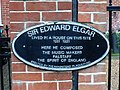 Sir Edward Elgar lived in a house on this site 1911 1921.jpg