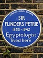 Sir Flinders Petrie 1853-1942 Egyptologist lived here.jpg
