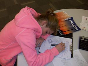 Students need sleep in order to study.