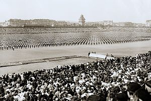 Mass games - Czech Sokol festival, Prague, 1920.