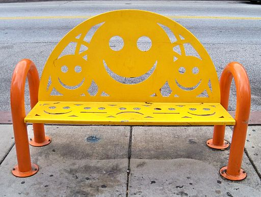 Smiley Face bench