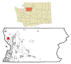Snohomish County Washington Incorporated and Unincorporated areas Lake Goodwin Highlighted.svg