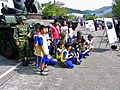 Soldiers of M24 Photoed with Primary School Children after Demo 20121013.jpg