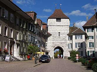 Solothurn - The Basel gate was added in the 16th Century