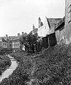Sopron 1915, az Ikva patak a Festő köznél levő híd felé nézve. Fortepan 32127.jpg