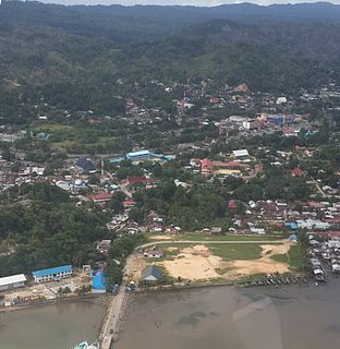 Sorong City in West Papua, Indonesia
