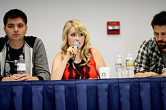 SourceFed - From left to right: Morgan, Newton, and Bereta, the original three hosts of SourceFed