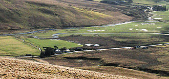 Southern Uplands - Source of the River Clyde where the Daer Water meets the Potrail Water