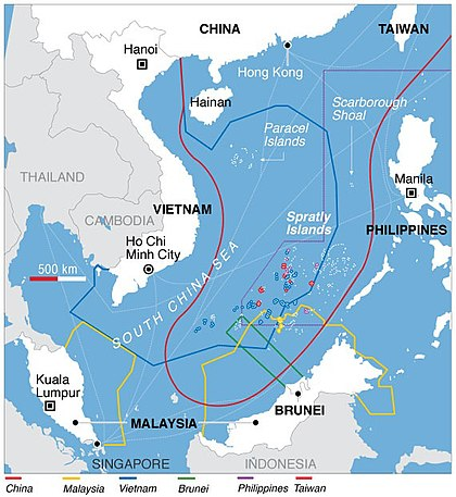 Map Of South China Sea Territorial disputes in the South China Sea   Wikipedia