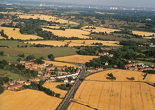 South Mimms village in the United Kingdom