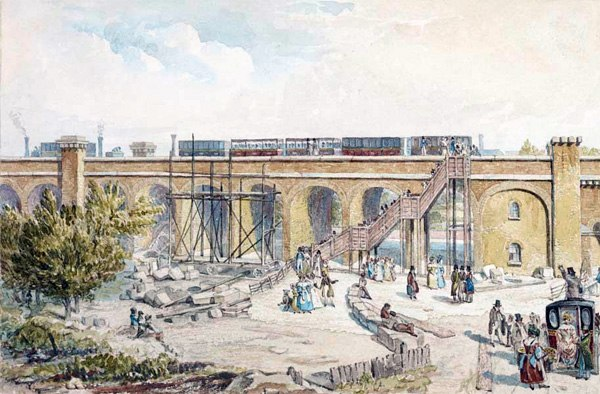 Spa Road railway station 1836