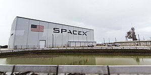 SpaceX - SpaceX hangar and Launch Pad 39A at Kennedy Space Center, December 2015