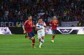Spain - Chile - 10-09-2013 - Geneva - Javi Garcia, Alexis Sanchez and Roberto Soldado.jpg